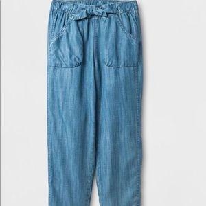 Cat & Jack Girls chambray pants size 6